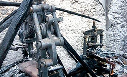 Sri Lanka's oldest printing machine destroyed