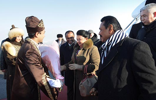 Sri Lanka President Rajapaksa arrives in Kazakhstan on a state visit - Photo 2