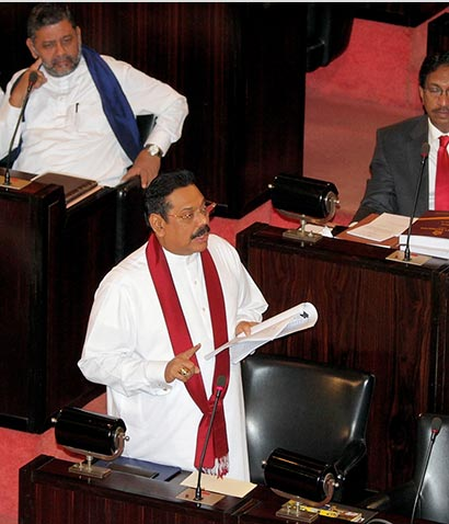 President Rajapaksa presented the Budget Report - 2013 to the parliament