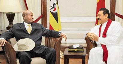 Uganda President in Sri Lanka
