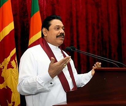 Sri Lanka President Mahinda Rajapaksa