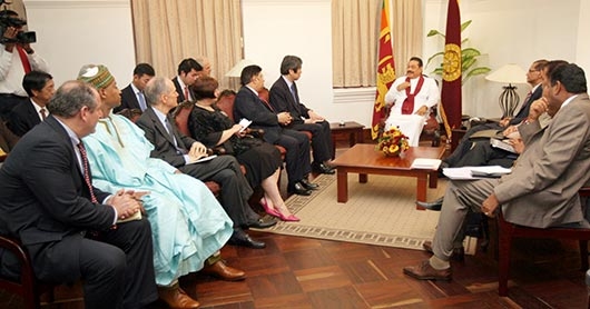 Delegation of Permanent Members to the UN calls-on President Rajapaksa