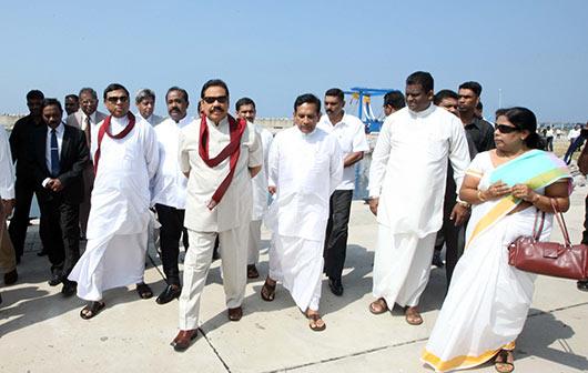 President Rajapaksa declares open South Asia's largest Fisheries harbor in Dikkowita