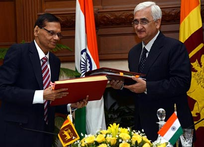 India and Sri Lanka sign agreements on international teerrorism and double taxation