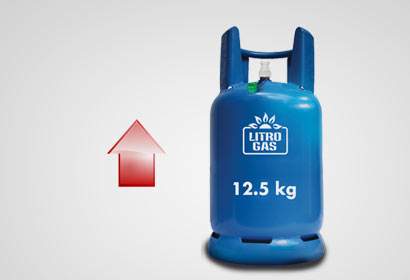 12.5 kg gas cylinder up by Rs. 150