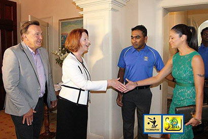 Hon. Julia Gillard, Prime Minister of Australia Host Sri Lankan Cricket Team