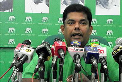 UNP Media spokesperson Gayantha Karunathillake