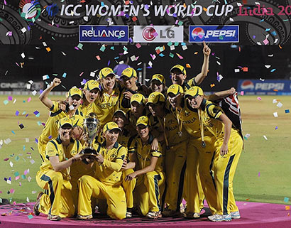Women storm home in cricket's World Cup