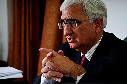 India External Affairs Minister Salman Khurshid