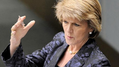Australia's opposition leader Julie Bishop