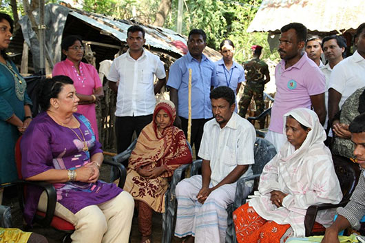 First Lady Visits Rizana Nafeek's Home