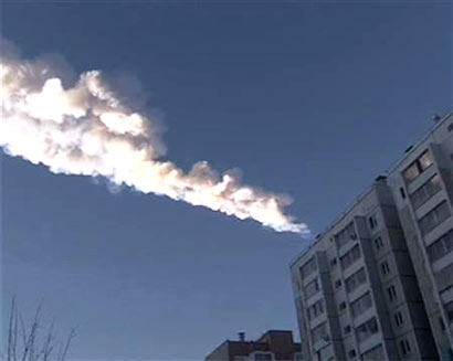Meteorite hits central Russia, 400 hurt
