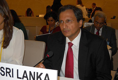 Sri Lanka's Permanent Representative to the UN Ravinatha Aryasinha
