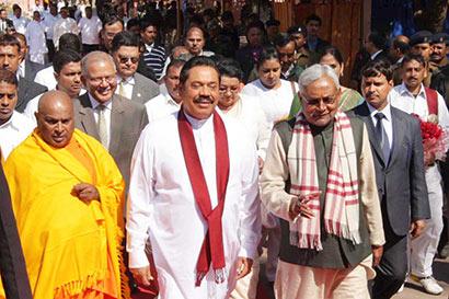 Protests as Rajapaksa arrives in India for pilgrimage