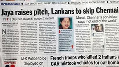 IPL cricket: India media attacks Sri Lanka player ban