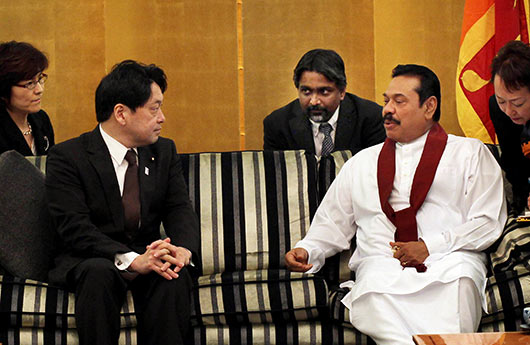 Japanese leaders praise Sri Lanka's progress