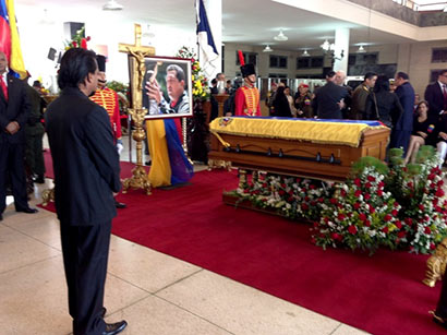 Ministerial Delegation attends State Funeral of Late President Hugo Chavez