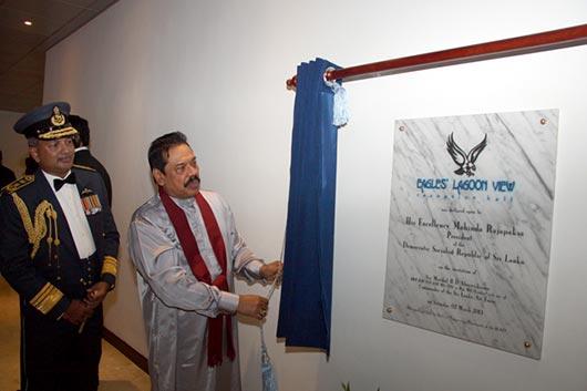 H E the President declares open 'Eagles Lagoon View'
