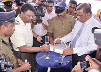 Customs seize 210 barrels of contraband ethyl alcohol
