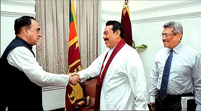 Dr. Subramanian Swamy meets President Mahinda Rajapaksa