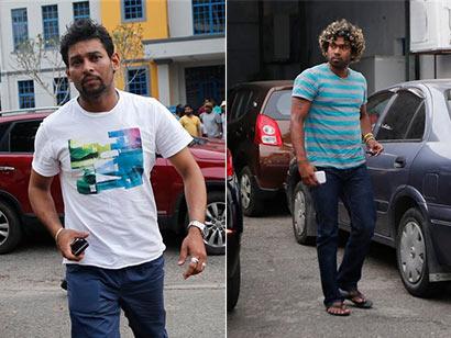 T.M. Dilshan and Lasith Mainga - Sri Lanka Cricket
