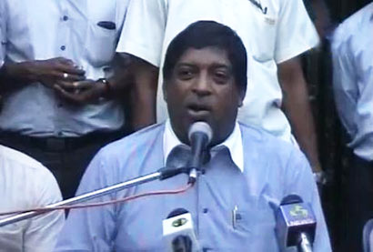 United National Party Parliamentarian Ravi Karunanayake