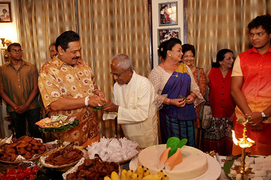 Sri Lanka's First Family celebrates New Year at Carlton House