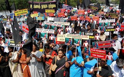 Tamil Nadu Protests against Sri Lanka