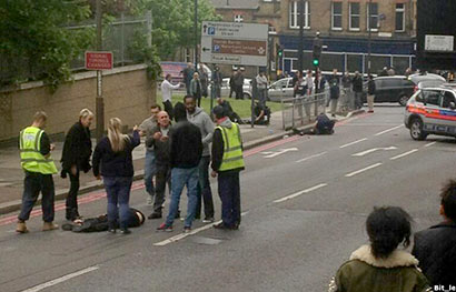 British Soldier hacked to death in London