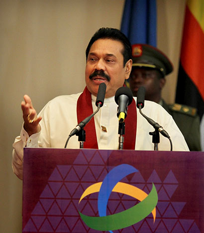 President Mahinda Rajapaksa at Commonwealth Local Government Conference