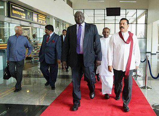 President Rajapaksa Arrives in Kampala - Ugandan