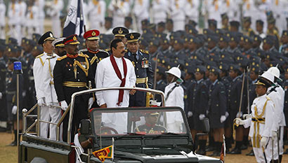 Sri Lanka President at 4th Victory Day