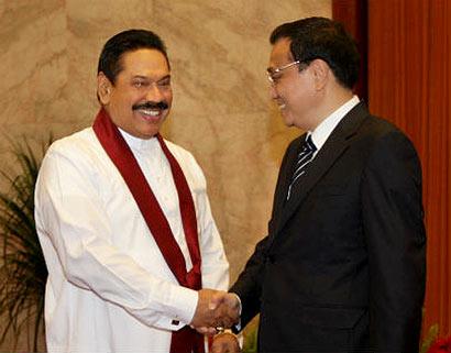 Chinese Prime Minister Li Keqiang met President Mahinda Rajapaksa