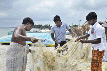 Sri Lankan Tamil fishermen