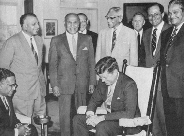 Parliamentary Delegation from Ceylon visited President Kennedy at the White House in 1962.