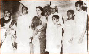 Family Friends: Indira Gandhi, Prime Minister S.W.R.D. Bandaranaike, Sirima Bandaranaike, Prime Minister Jawaharlal Nehru, Anura, Chandrika and Sunethra.