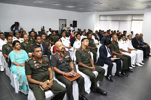 Mr. Gotabaya Rajapaksa during a lecture at the Kotalawala Defence University (KDU)