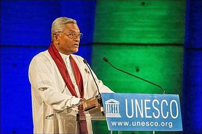 Speaker Chamal Rajapaksa at UNESCO