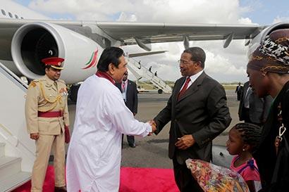 President arrives in Tanzania