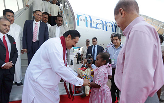 Seychelles welcomes President Rajapaksa on historic visit