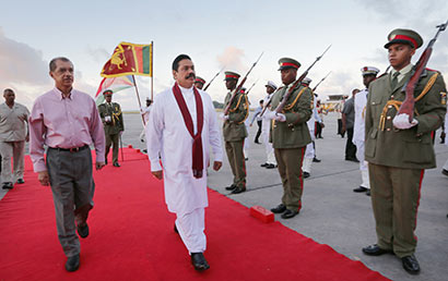Seychelles welcomes President Rajapaksa on historic visit