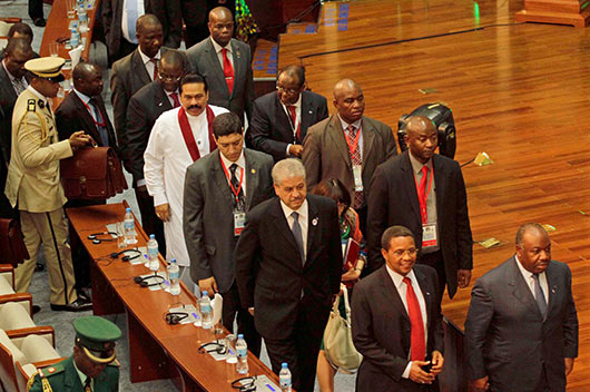 President Rajapaksa attends the Global Smart Partnership Dialogue Forum 2013 in Tanzania.