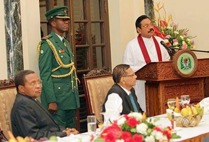 President Mahinda Rajapaksa in Tanzania