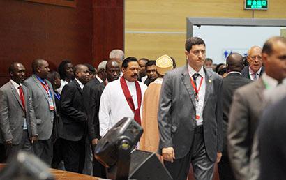 President Rajapaksa attends the Global Smart Partnership Dialogue Forum 2013 in Tanzania.
