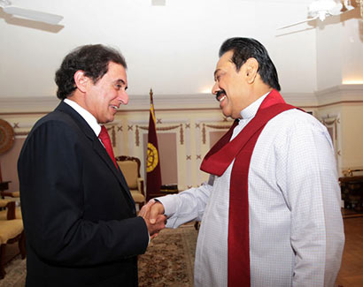 Dr. Anoop Singh met Sri Lanka President Mahinda Rajapaksa