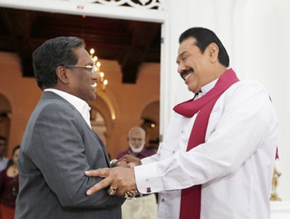 Maldivian President Waheed meets President Rajapaksa
