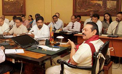 President Rajapaksa met Media Heads