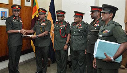 Sri Lanka Army Chief receives Weliweriya Rathupaswala report