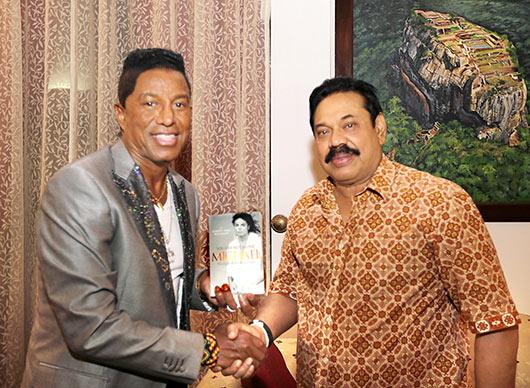 Jermaine Jackson met Sri Lanka President Mahinda Rajapaksa