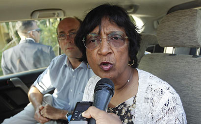 Navi Pillay in Sri Lanka